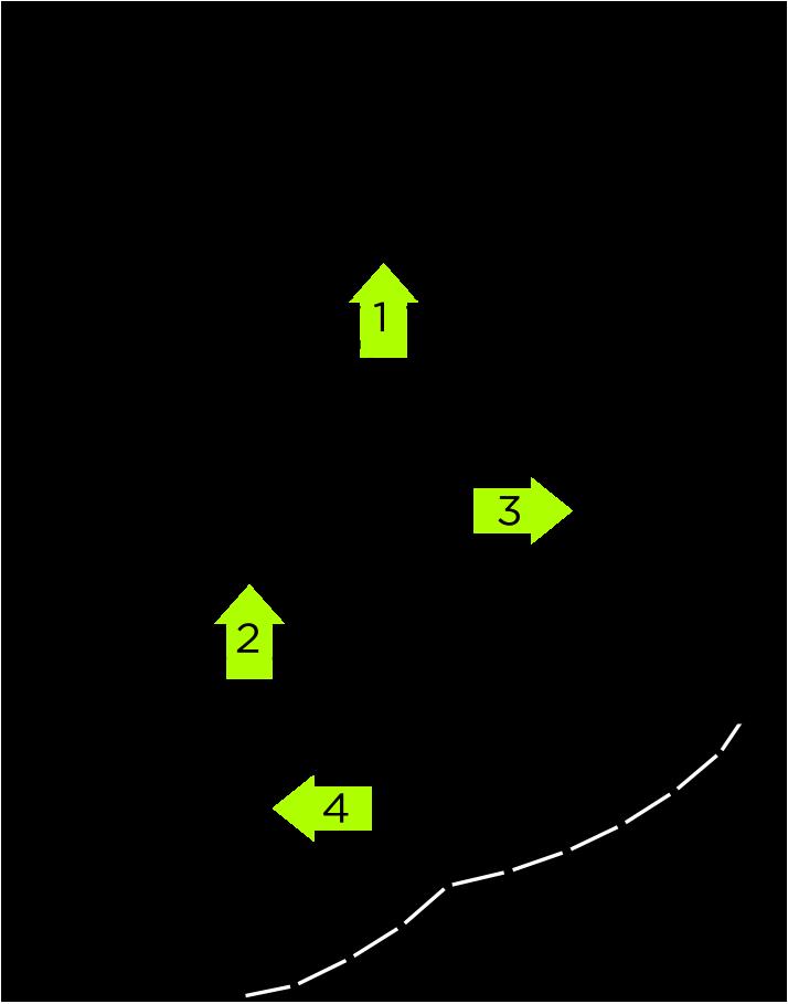 UTSUBO STUDIO 3のフロアマップ